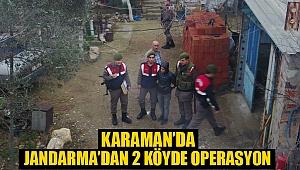 Jandarma'dan 2 köyde operasyon