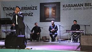 Ünlü İlahi Sanatçısı Karaman'da Sahne Aldı